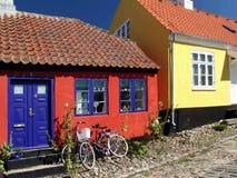 χρωματισμένα σπίτια Στοκ Εικόνες