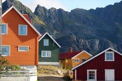 χρωματισμένα σπίτια Στοκ εικόνες με δικαίωμα ελεύθερης χρήσης