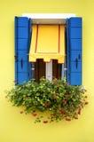 Χρωματισμένα σπίτια Burano Στοκ εικόνες με δικαίωμα ελεύθερης χρήσης