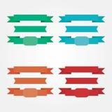 Χρωματισμένα στοιχεία κορδελλών αποθεμάτων διάνυσμα για τον Ιστό απεικόνιση αποθεμάτων