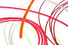 χρωματισμένα στριμμένα καλώ Στοκ Εικόνα