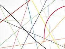 χρωματισμένα στριμμένα καλώ Στοκ εικόνα με δικαίωμα ελεύθερης χρήσης
