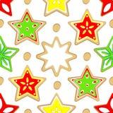 Χρωματισμένα σχέδιο γλυκά Χριστουγέννων διανυσματική απεικόνιση