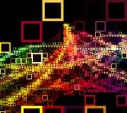 Χρωματισμένα τετράγωνα μετά από την καμπύλη Στοκ φωτογραφία με δικαίωμα ελεύθερης χρήσης