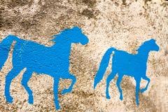 Χρωματισμένα τοίχος υπόβαθρα αλόγων Στοκ Εικόνες
