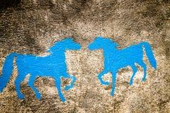 Χρωματισμένα τοίχος υπόβαθρα αλόγων Στοκ Εικόνα