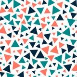 Χρωματισμένα τρίγωνα - άνευ ραφής σχέδιο ελεύθερη απεικόνιση δικαιώματος