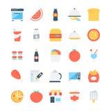 Χρωματισμένα τρόφιμα διανυσματικά εικονίδια 7 ελεύθερη απεικόνιση δικαιώματος