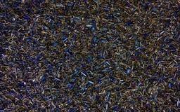 Χρωματισμένα τσιπ χάλυβα Στοκ φωτογραφία με δικαίωμα ελεύθερης χρήσης