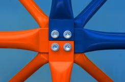 Χρωματισμένα υλικά σκαλωσιάς Στοκ φωτογραφίες με δικαίωμα ελεύθερης χρήσης