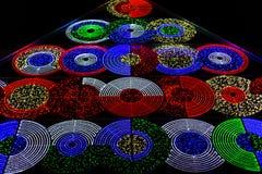 Χρωματισμένα φω'τα στη νύχτα στοκ φωτογραφία με δικαίωμα ελεύθερης χρήσης