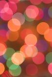 Χρωματισμένα φω'τα Χριστουγέννων, ανασκόπηση εορτασμού Στοκ Εικόνες