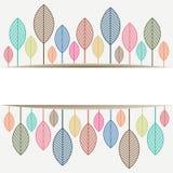 Χρωματισμένα φύλλα φθινοπώρου με τη θέση για το αντίγραφο SP κειμένων Στοκ Εικόνα