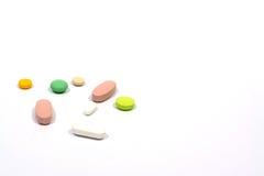 Χρωματισμένα χάπια Στοκ φωτογραφία με δικαίωμα ελεύθερης χρήσης