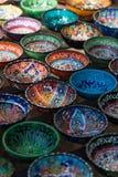 Χρωματισμένα χέρι κύπελλα της Τουρκίας Στοκ φωτογραφία με δικαίωμα ελεύθερης χρήσης