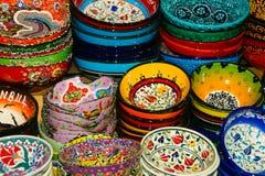 χρωματισμένα χέρι πιάτα Στοκ φωτογραφίες με δικαίωμα ελεύθερης χρήσης