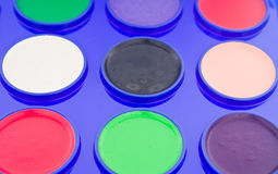 χρωματισμένα χρώματα υγρά στοκ φωτογραφίες