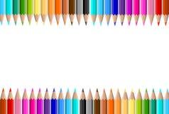 χρωματισμένα χρώμα μολύβια ανασκόπησης κατατάξεων διανυσματική απεικόνιση