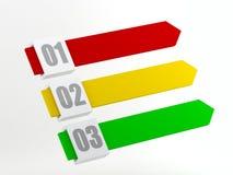 Χρωματισμένα λωρίδες με τους αριθμούς Στοκ φωτογραφία με δικαίωμα ελεύθερης χρήσης