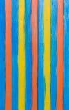 Χρωματισμένα λωρίδες σε έναν κάθετο τοίχο του εμπορευματοκιβωτίου Στοκ Φωτογραφία
