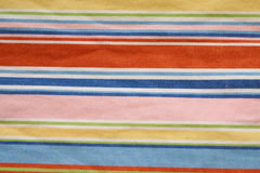 Χρωματισμένα λωρίδες του κλωστοϋφαντουργικού προϊόντος Στοκ Εικόνα