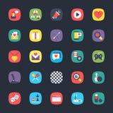 Χρωματισμένα App διανύσματα καθορισμένα απεικόνιση αποθεμάτων