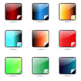 Χρωματισμένα app κουμπιά καθορισμένα. Στοκ φωτογραφία με δικαίωμα ελεύθερης χρήσης