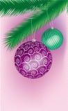 χρωματισμένα cristmas δύο Στοκ Εικόνα