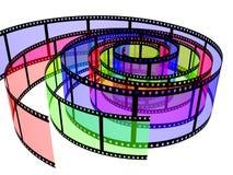 χρωματισμένα filmstrips τρία Στοκ Εικόνες