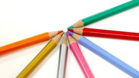 Χρωματισμένα Packshot μολύβια Στοκ Εικόνα