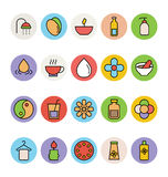 Χρωματισμένα SPA διανυσματικά εικονίδια 1 Στοκ εικόνες με δικαίωμα ελεύθερης χρήσης