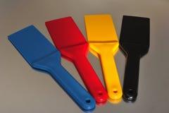 χρωματισμένα spatulas Στοκ φωτογραφία με δικαίωμα ελεύθερης χρήσης