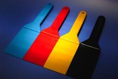 χρωματισμένα spatulas Στοκ Φωτογραφία