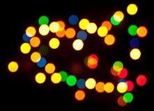 Χρωματισμένα specks του φωτός Στοκ εικόνες με δικαίωμα ελεύθερης χρήσης