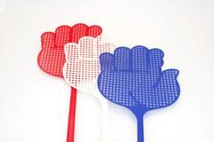 Χρωματισμένα swatters μυγών Στοκ Φωτογραφίες