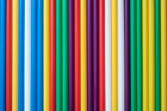 Χρωματισμένα tubules για ένα κοκτέιλ στοκ εικόνες με δικαίωμα ελεύθερης χρήσης