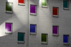 χρωματισμένα Windows Στοκ Φωτογραφία