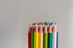 Χρωματισμένες άκρες κραγιονιών Στοκ εικόνες με δικαίωμα ελεύθερης χρήσης