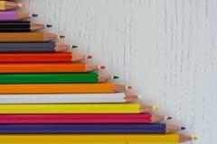 Χρωματισμένες άκρες κραγιονιών Στοκ φωτογραφία με δικαίωμα ελεύθερης χρήσης