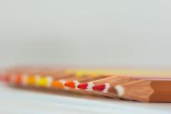 Χρωματισμένες άκρες κραγιονιών Στοκ φωτογραφίες με δικαίωμα ελεύθερης χρήσης
