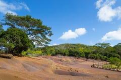 Χρωματισμένες άμμοι του Μαυρίκιου στοκ εικόνες