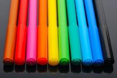 χρωματισμένες αισθητές πέν& Στοκ φωτογραφία με δικαίωμα ελεύθερης χρήσης