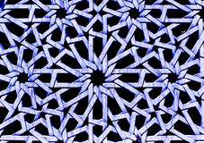 Χρωματισμένες αραβικές διακοσμητικές γλυπτικές Στοκ εικόνες με δικαίωμα ελεύθερης χρήσης