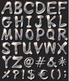 Χρωματισμένες ασήμι επιστολές διανυσματική απεικόνιση