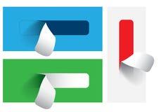 Χρωματισμένες αυτοκόλλητες ετικέττες για τις διάφορες επιλογές ball color crystal illustration magic set vector Στοκ Φωτογραφίες