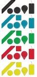 Χρωματισμένες αυτοκόλλητες ετικέττες ειδικές Στοκ Εικόνες