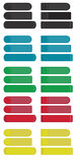 χρωματισμένες αυτοκόλλητες ετικέττες Στοκ εικόνα με δικαίωμα ελεύθερης χρήσης