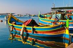 Χρωματισμένες βάρκες, Μάλτα Στοκ Φωτογραφίες