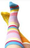 χρωματισμένες κάλτσες Στοκ φωτογραφία με δικαίωμα ελεύθερης χρήσης