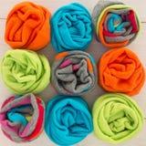 χρωματισμένες κάλτσες Στοκ εικόνες με δικαίωμα ελεύθερης χρήσης